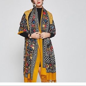 Pure Wool Large Pashmina Shawl